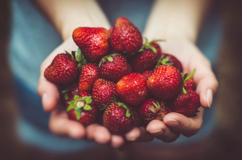 rohes Erbeertörtchen mit joy.foods