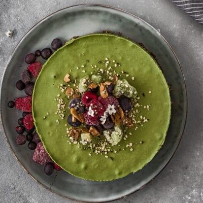 Green Smoothie Rawcake mit Weizengras