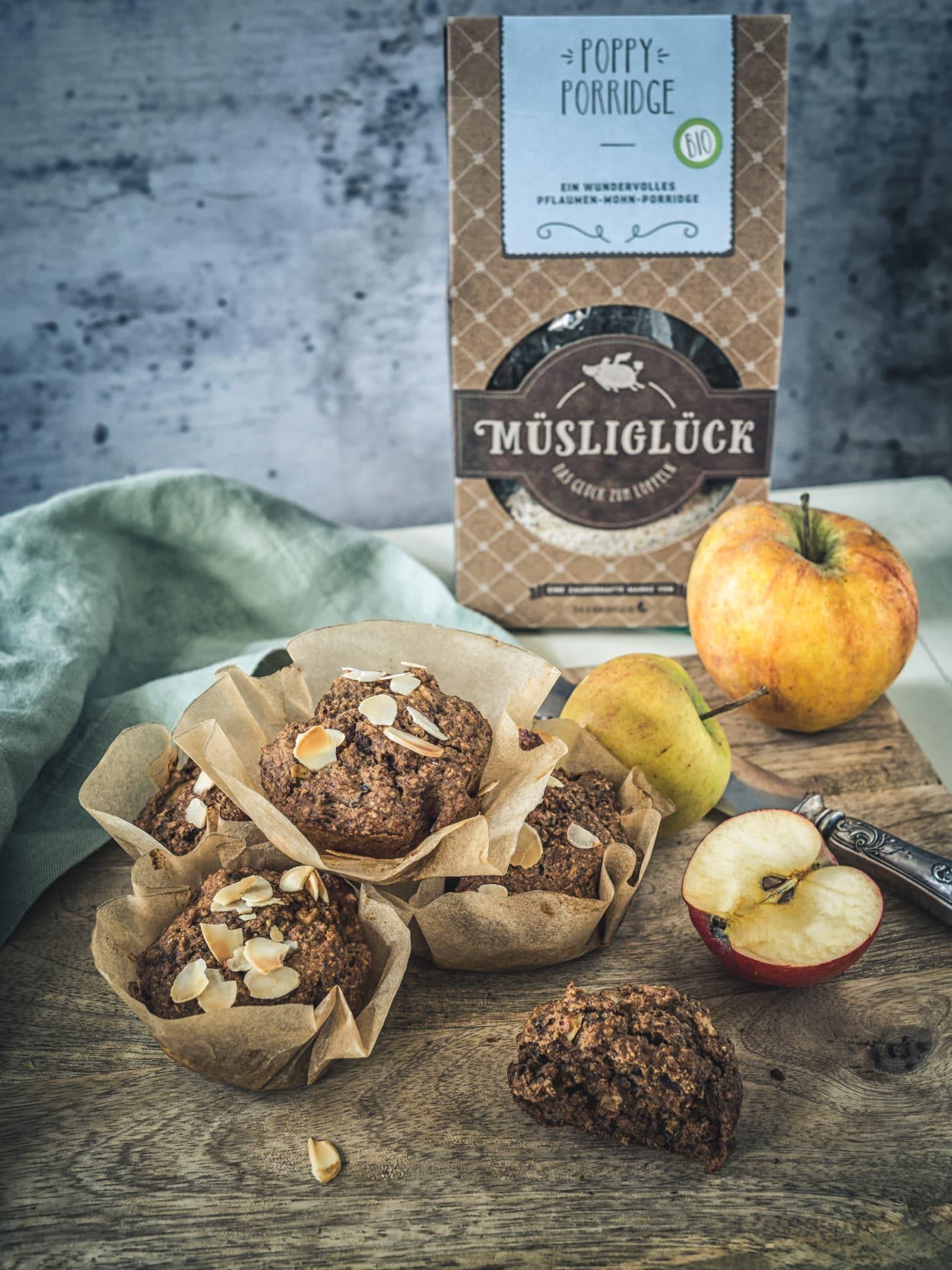 Muesliglueck perfekt fuer Porridge Muffins