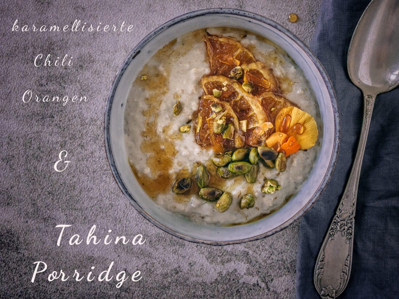 veganer Tahina Porridge