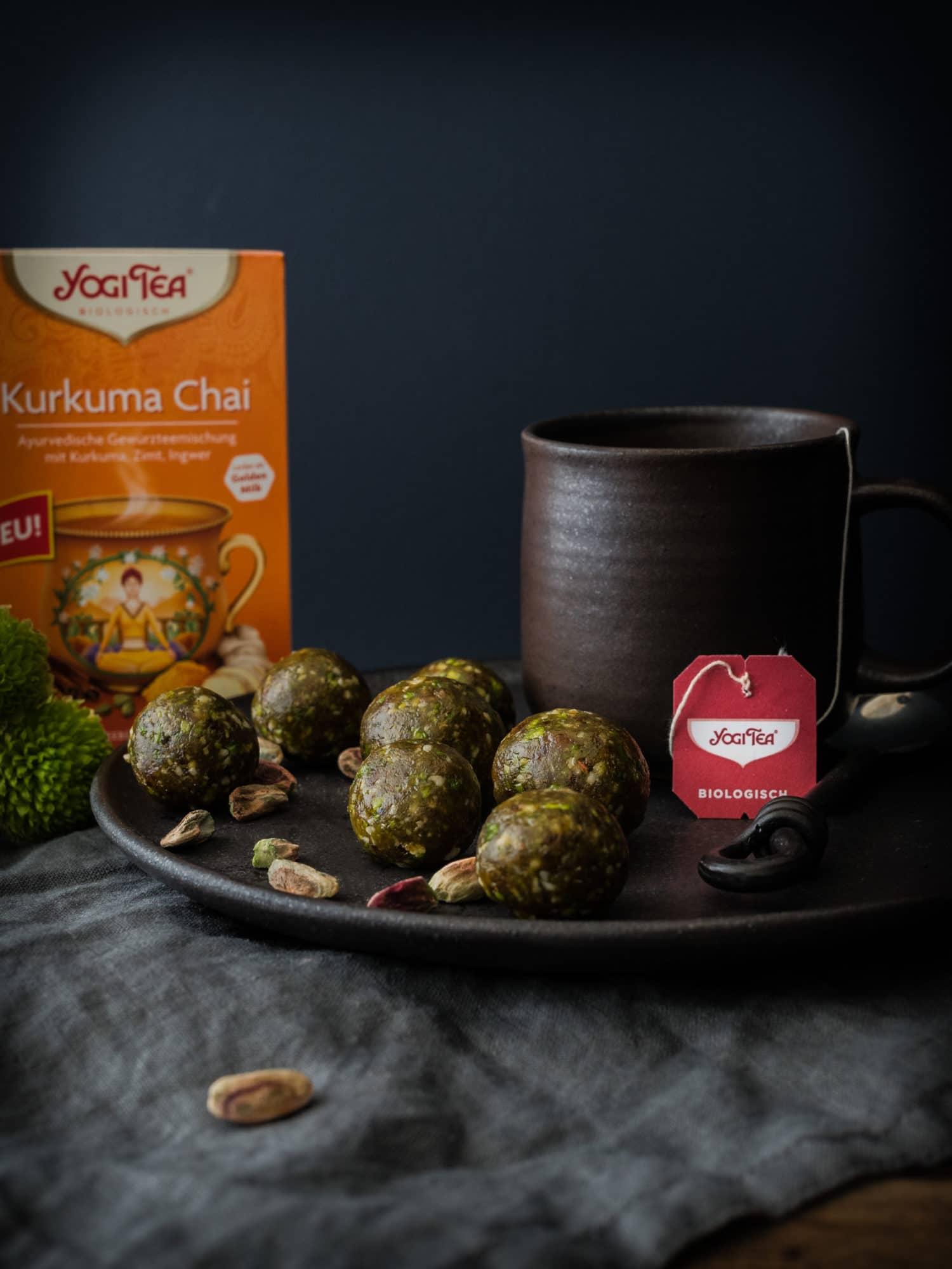 Ayurveda Energyballs und Tee von YOGI TEA