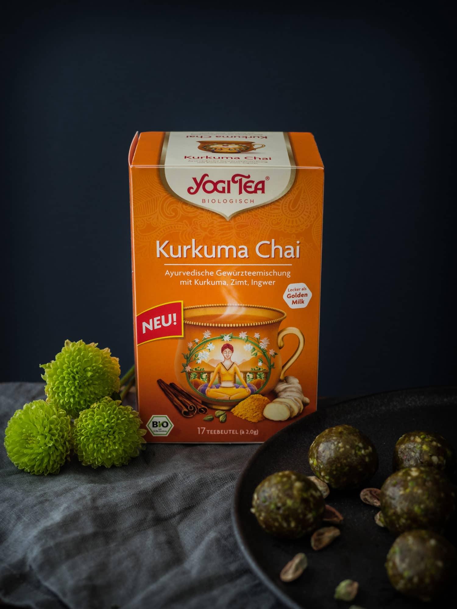 Ayurveda Energyballs und Kurkuma Chai von YOGI TEA