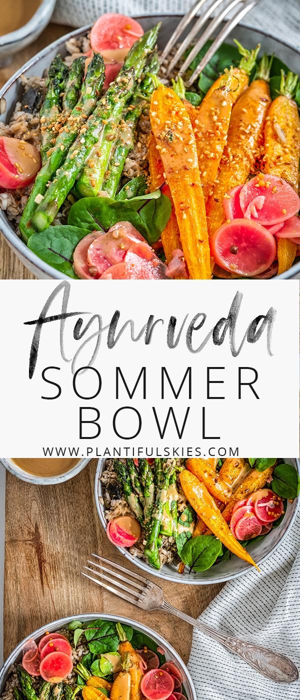 vegane Ayurveda Sommer Bowl