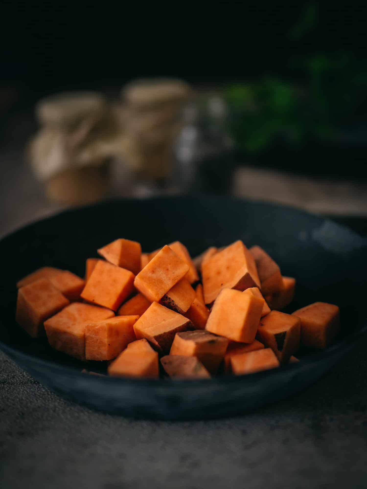 Ayurvedische Süßkartoffeln roh