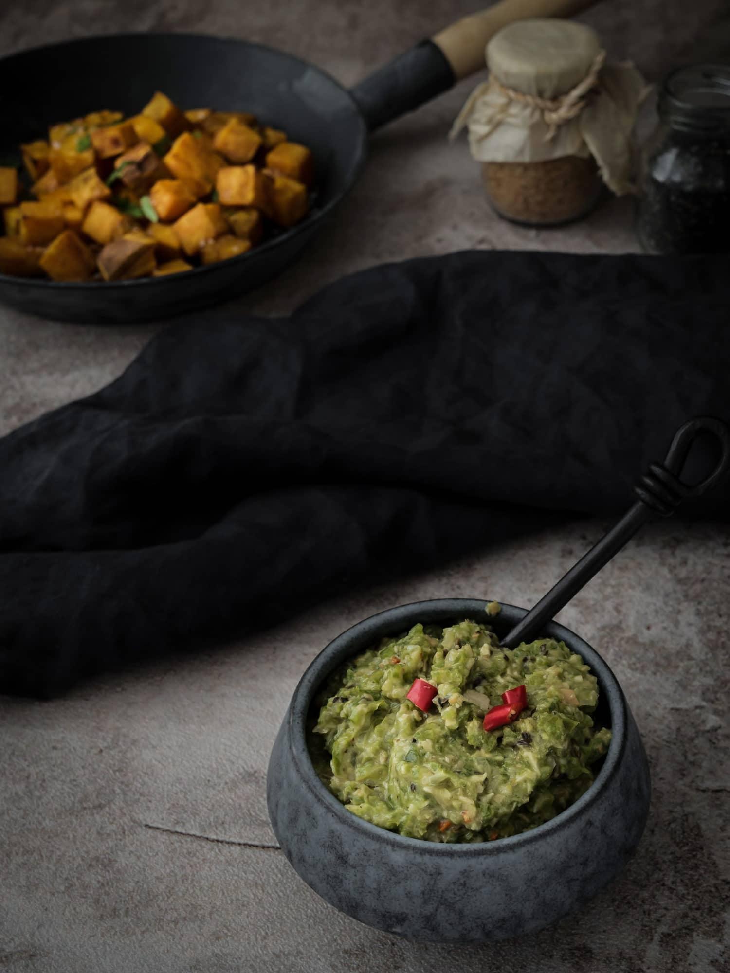 Mojo Verde für ayurvedische Süßkartoffeln