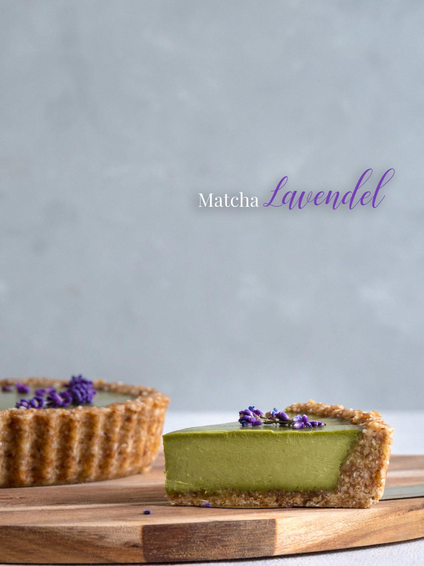 No bake Tarte Matcha und Lavendel.