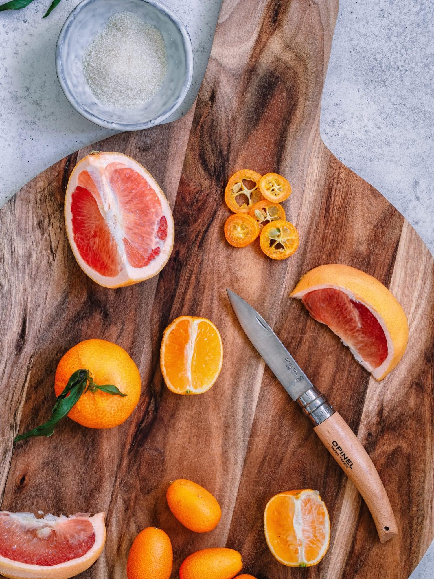 Zitrusfrüchte zum karamellisieren