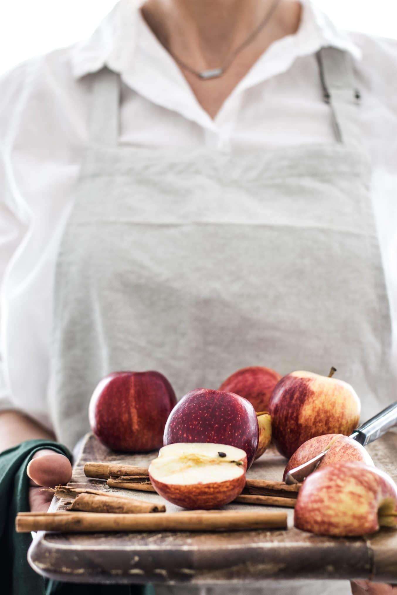 Zimt Äpfel .Ein Rezept zum Einkochen