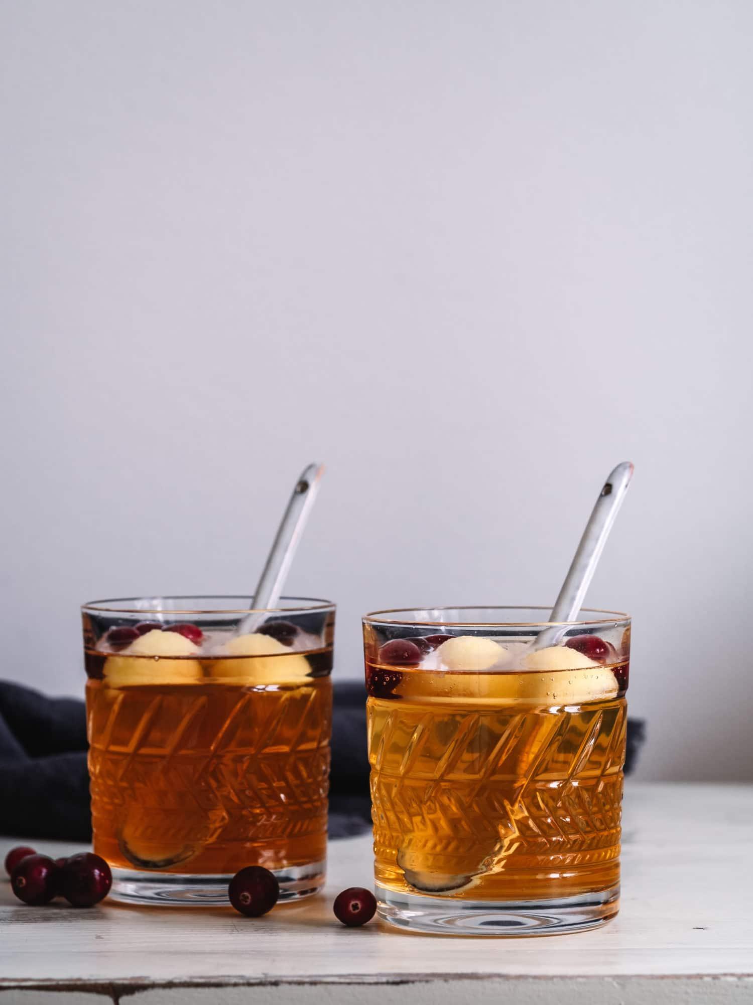 alkoholfreie Apfel Bowle