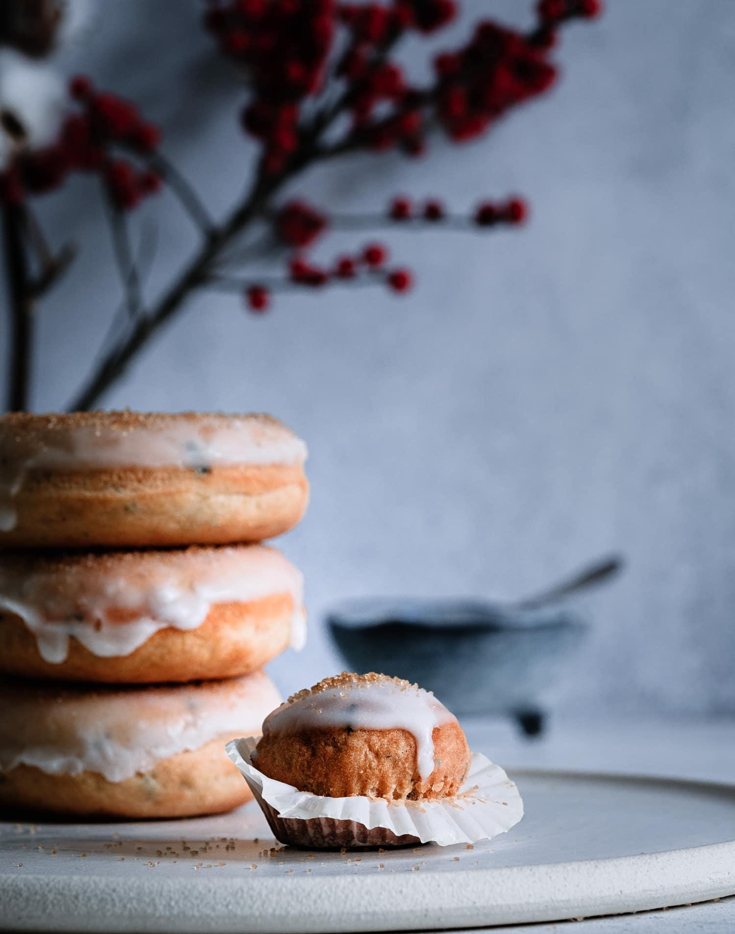 Vegane Donuts und ein Mini Muffin