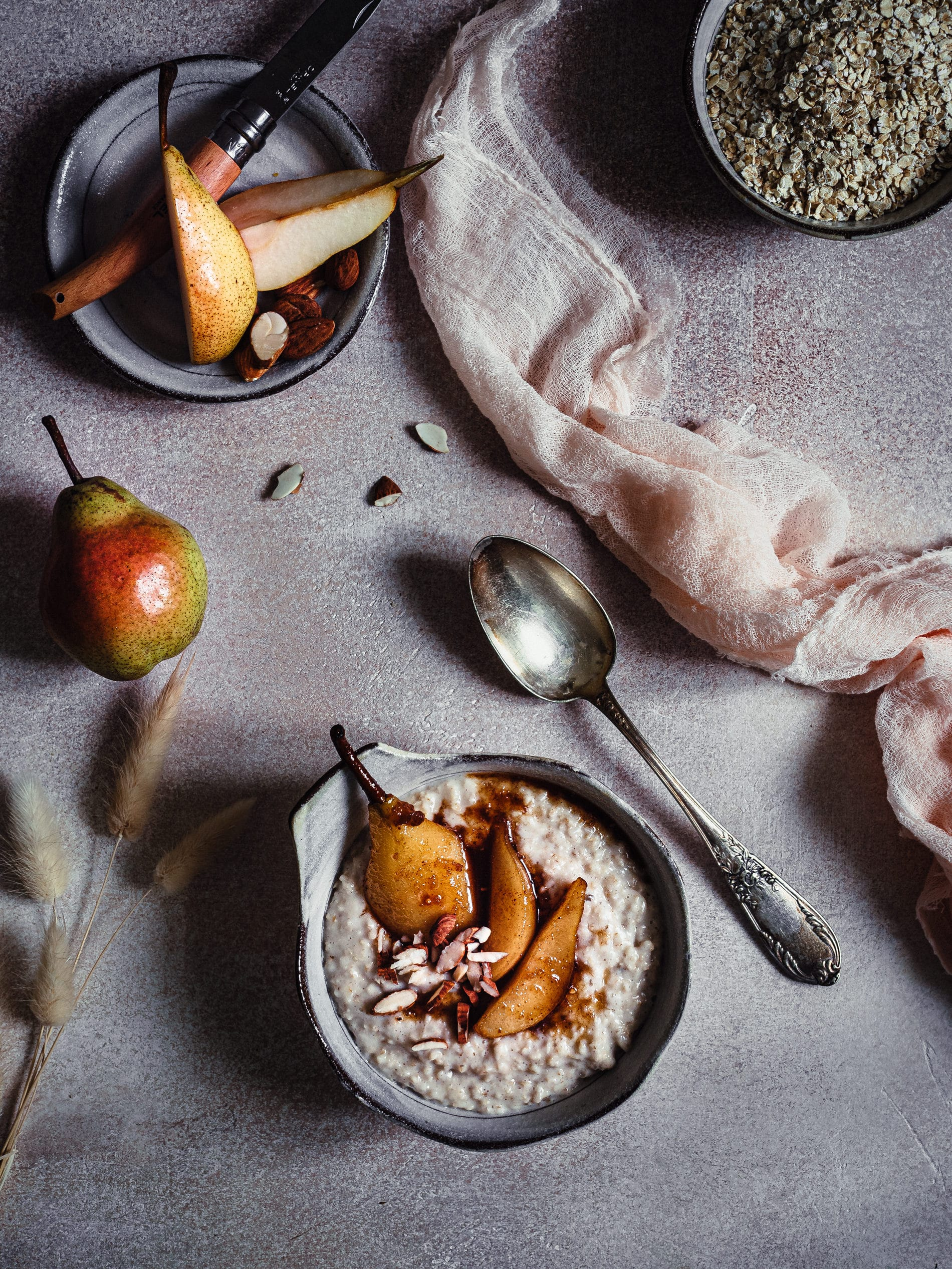 Veganes Porridge Grundrezept.
