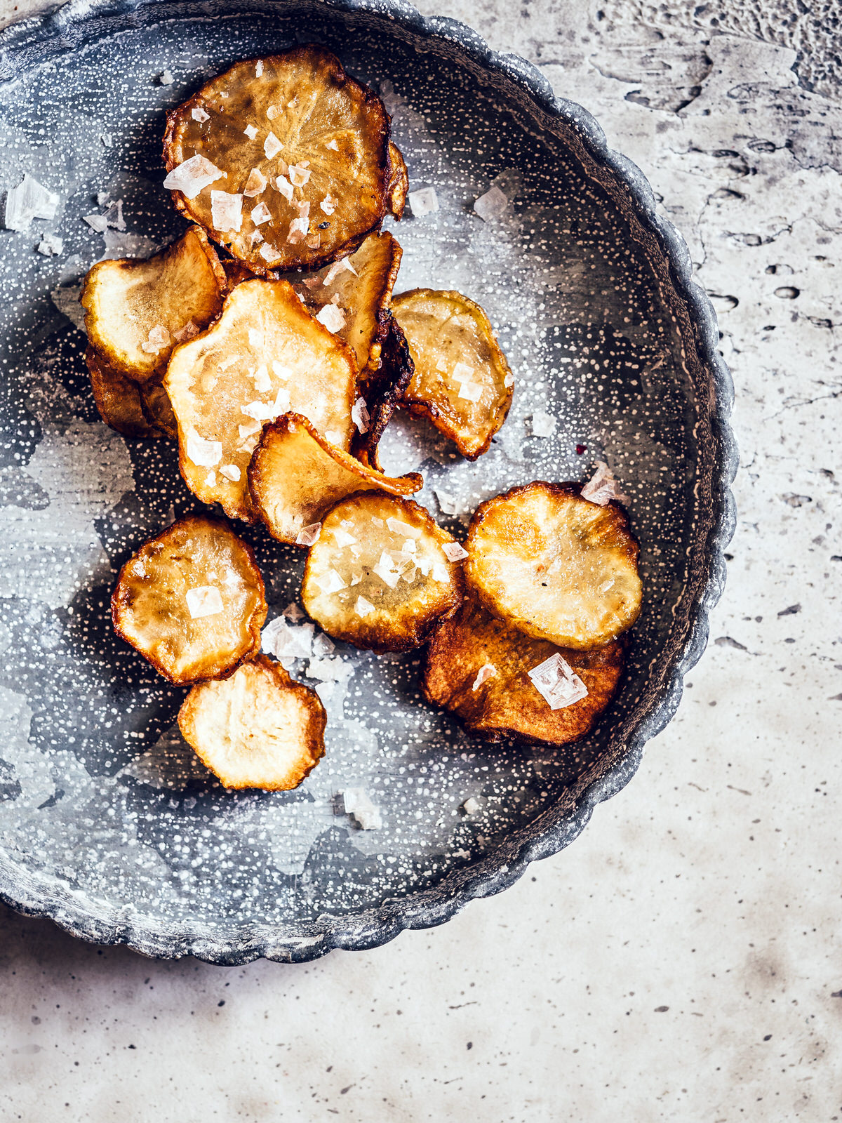 Topinambur Chips mit Salz & Pfeffer von happymoodfood.com